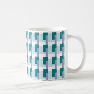 Teal Rectangles Coffee Mug