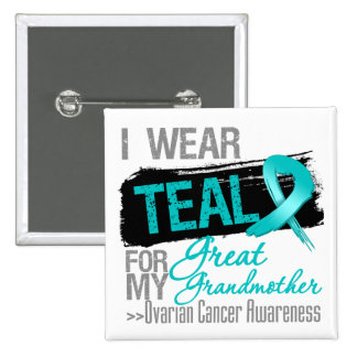 Teal Ribbon Great Grandmother - Ovarian Cancer Buttons