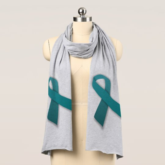Teal Ribbon Jersey Scarf