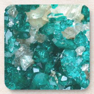 Teal Rock Candy Quartz Coaster