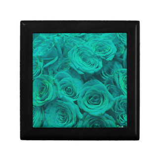 teal roses gift box