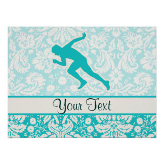 Teal Running Posters