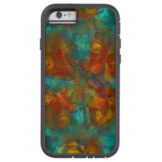 Teal, Rust, Kaleidoscope Pattern Tough Xtreme iPhone 6 Case