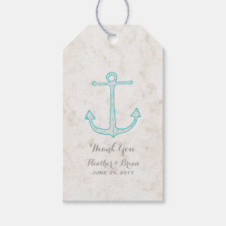 Teal Rustic Anchor Wedding