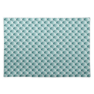 Teal Scales Pattern Place Mat