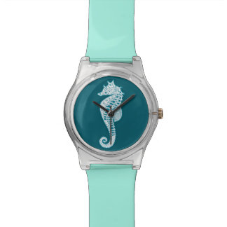 Teal Seahorse Watch