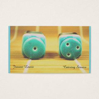 Teal Shakers Catering Service Business Card