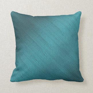 Teal Silk Cushion