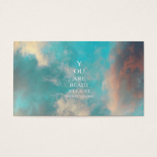 Teal Sky Blue Love Quote