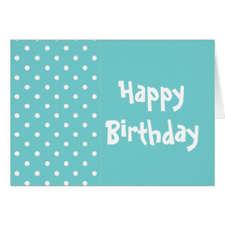 Teal Sky Happy Birthday Greeting Card