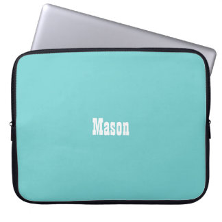 Teal Sky Personalized Laptop Sleeve