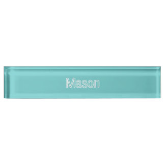 Teal Sky Personalized Name Plate