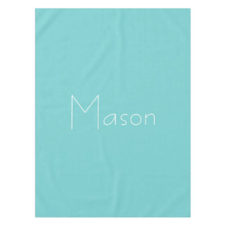 Teal Sky Personalized Tablecloth