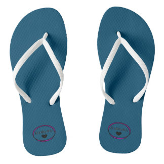 Teal Slim Straps Thongs, Women's Thongs
