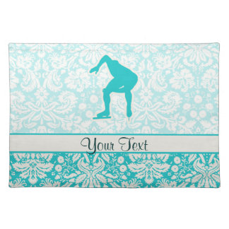Teal Speed Skater Placemat
