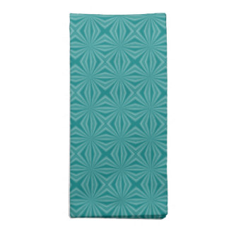 Teal Squiggly Squares Napkin