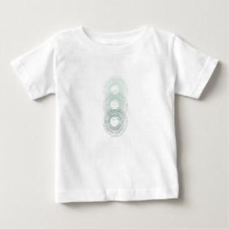 Teal Stacked Spirals Baby T-Shirt