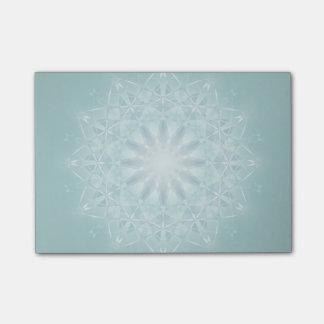 Teal Star Mandala Post-it Notes