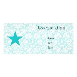 Teal Star Custom Rack Card