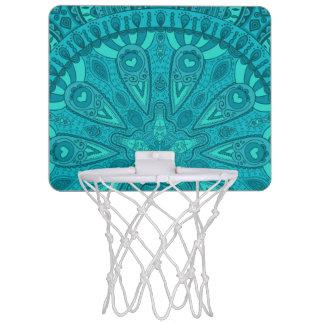 Teal Starburst Design Mini Basketball Hoop