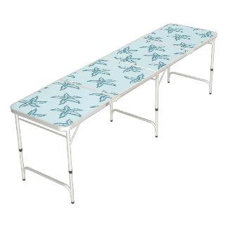 Teal Starfish Beer Pong Table