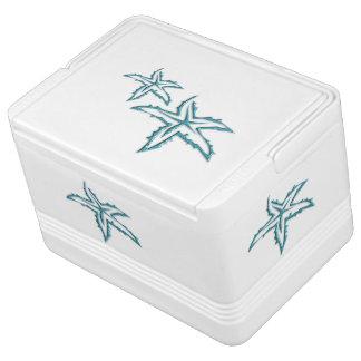 Teal Starfish Cooler