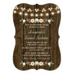 Teal String of Lights Rustic Sweet 16 13 Cm X 18 Cm Invitation Card
