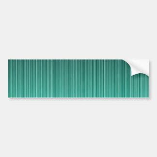 Teal Striped Bumper Sticker
