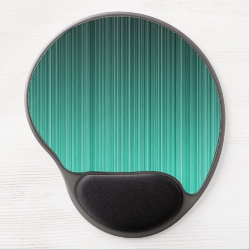 Teal Striped Gel Mouse Mat