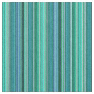 Teal Stripes Design Fabric