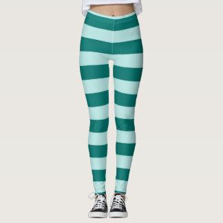 Teal Stripes Leggings