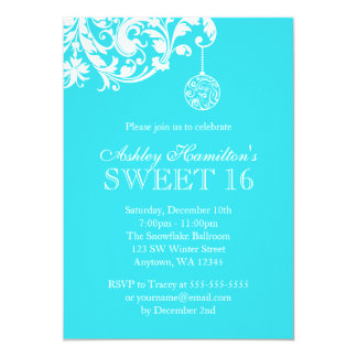 winter wonderland sweet 16 birthday invitations & announcements, Party invitations
