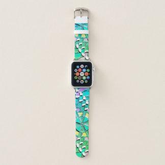 """Teal Swirl"" Geometric - Apple Watch Band"