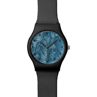 Teal Swirl Watch w/ numbers