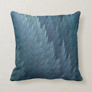 Teal Tartan Feather Pattern Design Throw Pillow