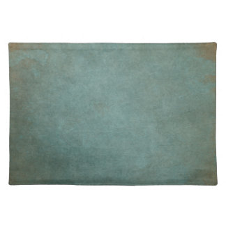 Teal Textured Grunge Placemats
