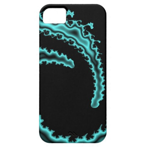 Teal Tidal Wave iPhone 5 Cases