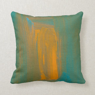 Teal to Orange Throw Pillow