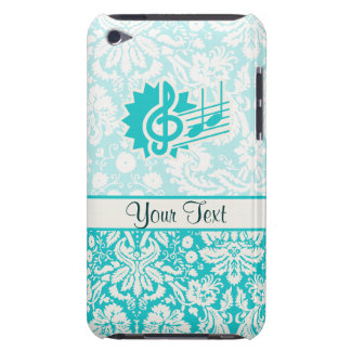 Teal Treble Clef Barely There iPod Case