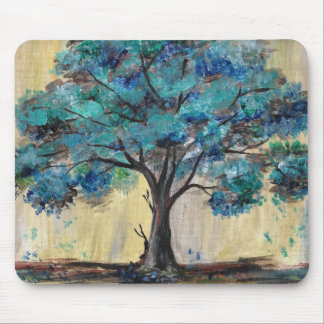 Teal Tree Mouse Pad