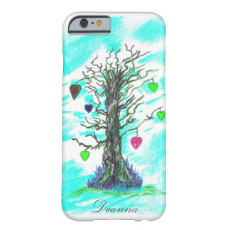Teal Tree of Love Barely There iPhone 6 case