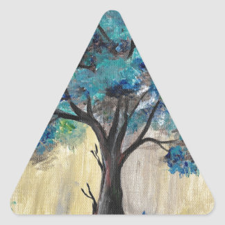 Teal Tree Triangle Sticker