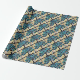 Teal Tree Wrapping Paper
