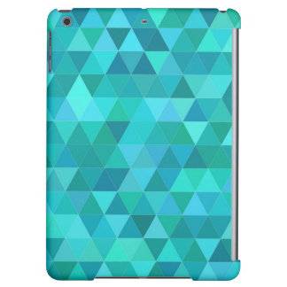 Teal triangle pattern