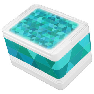 Teal triangle pattern cooler