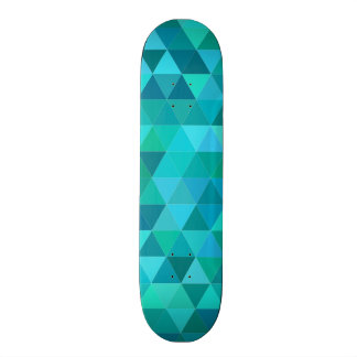 Teal triangle pattern custom skate board
