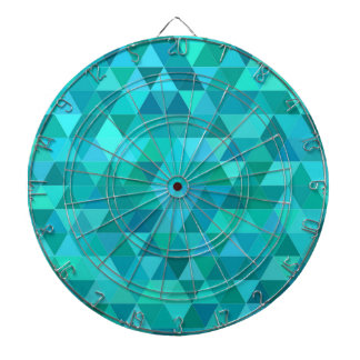 Teal triangle pattern dartboard