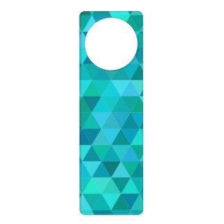 Teal triangle pattern door hanger