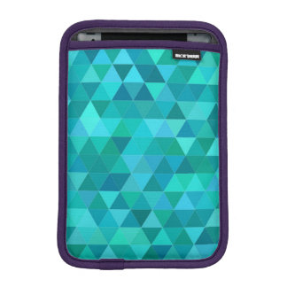 Teal triangle pattern iPad mini sleeve