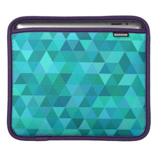 Teal triangle pattern iPad sleeve